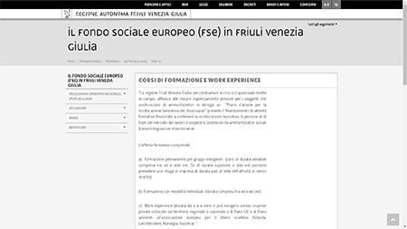Work Experience in Friuli Venezia Giulia