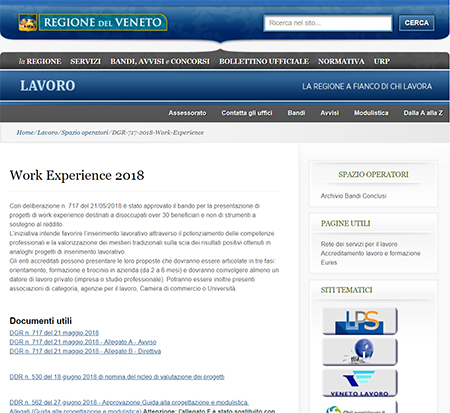 Work Experience in Veneto